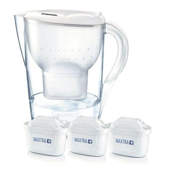Brita Marella XL (3,5l) White vízszűrő kancsó induló csomag 3 db szűrőbetéttel