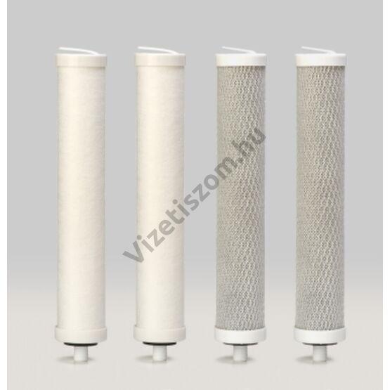 Aquafilter EKO FP4 I.szűrőgarnitúra 4 darabos fertőtlenítő csomaggal