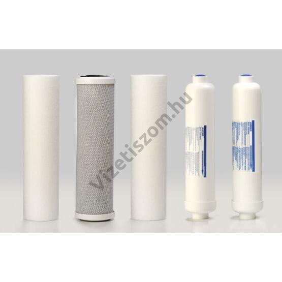 Aquafilter FRO5 szűrőgarnitúra ásványi patronnal, fertőtlenítő csomaggal