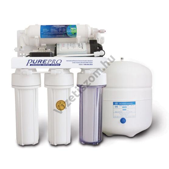 PurePro RO EC105P ozmózis víztisztító nyomásfokozóval
