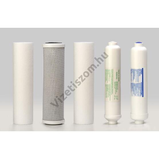 Smartfilters Basic RO szűrőgarnitúra ásványi patronnal és fertőtlenítő csomaggal