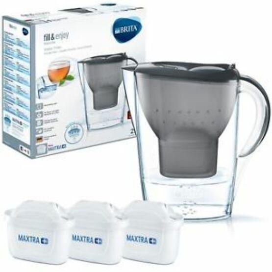 Brita Marella Cool Grey vízszűrő kancsó induló csomag, 3 db szűrőbetéttel